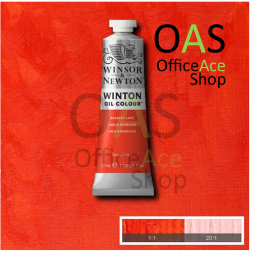 SCARLET LAKE Winton Oil Colours สีน้ำมัน: (No.603) 37ml