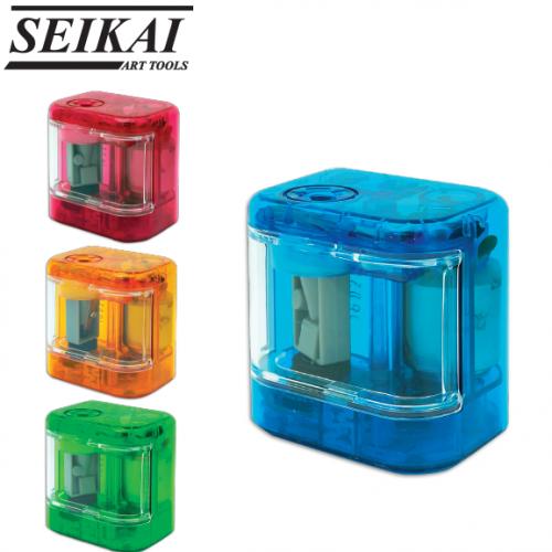 เครื่องเหลาดินสอไฟฟ้า ขนาดพกพา SEIKAI Mini Electric Pencil Sharpener (AA00178) 3S
