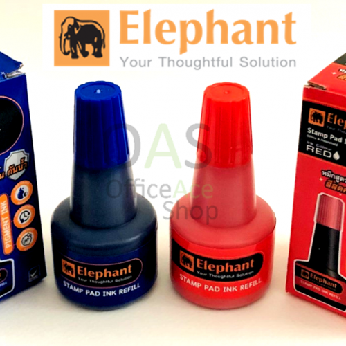 หมึกเติมแท่นประทับตรายาง ตราช้าง 30ml ELEPHANT Stamp Pad Ink Refill