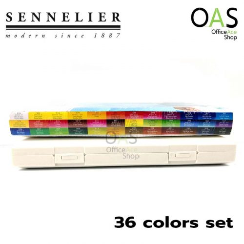 สีน้ำ SENNELIER Travel Box 36 Watercolor สีน้ำก้อน ชุด 36 สี เซเน่ลิเย่ #N331682