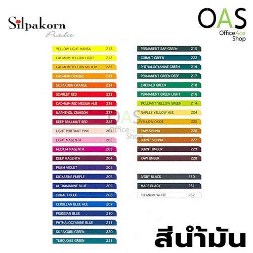 สีน้ำมัน SILPAKORN PRADIT Oil Colors ศิลปากรประดิษฐ์ 38ml